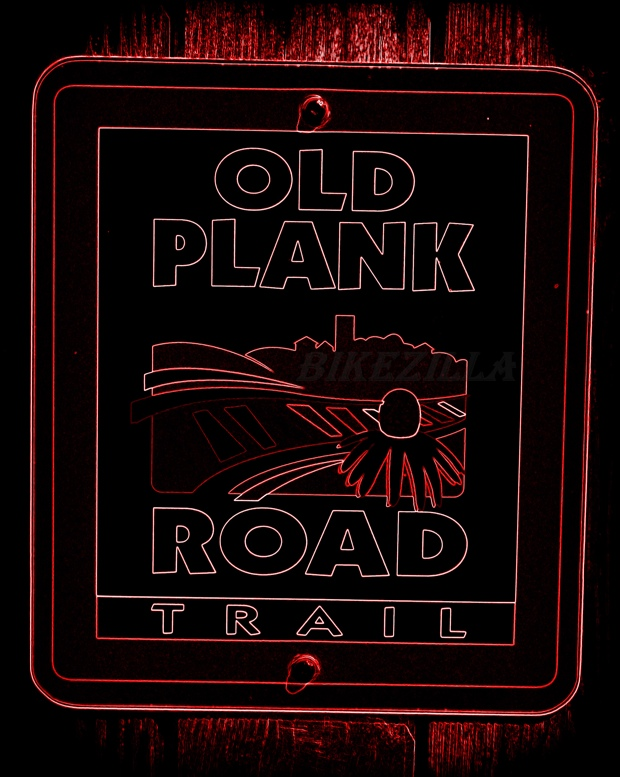 WM Old Plank Road Trail Sign Neon 2