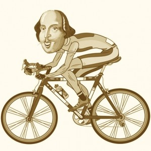 shakespeare on bike
