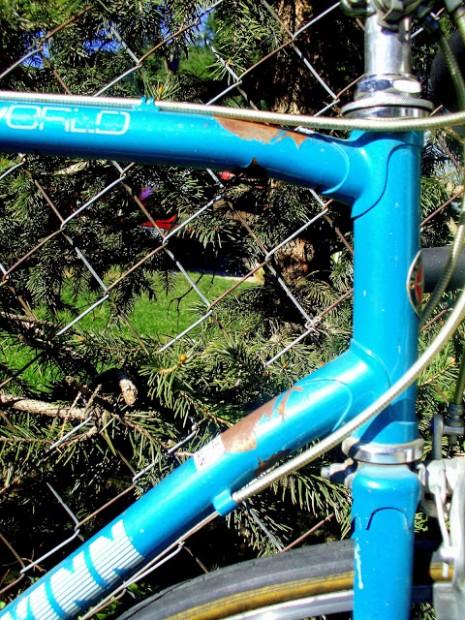 Blue '69 Schwinn World Bent Frame #1