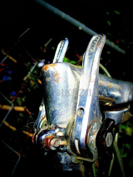 WM Blue '69 Schwinn World Scratched Stem Bent Shifter Shadow Lomo #1