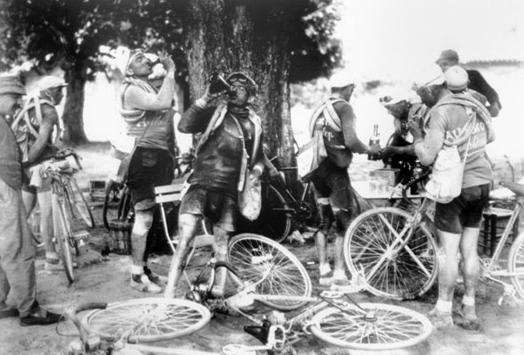 riders-drinking-wine
