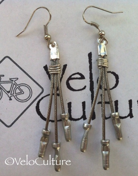 veloculture brake cable earrings