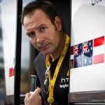 Dinan, France - The start for stage 6 of the Tour de France. Renowned sprinter and HTC consultant, Erik Zabel assesses the conditions for today's stage.