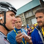 Stage 8 of the Tour de France in Super-Besse Sancy. Tejay van Garderen's performance in today's breakaway attracts the attention of many journalists.