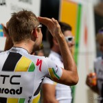 Drome, France and rest day number 2. American Tejay van Garderen assures his teammates that his hair supposed to look that way for the team photo.