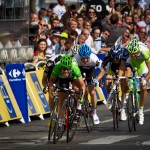 Stage 21 of the Tour - Paris, France. Sprinting ace, Mark Cavendish sprints clear of his rivals to take stage win number 5 and the most prestigious - winning on the Champs Elysees.