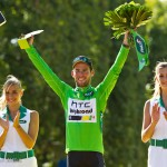 Stage 21 of the Tour - Paris, France. Mark Cavendish has won 20 stages in the Tour over just 4 years but this is the prize he has always dreamed of - the green jersey of best sprinter.