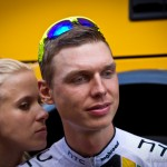 Paris, France - finish of stage 21. Tony Martin has a relaxed moment at the end of a hectic 3 weeks of racing.