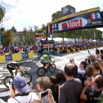 Stage 21 of the Tour - Paris, France. Meters away from stage win number 5 for Mark Cavendish of HTC-Highroad.