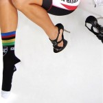 How all cyclists look  wearing only one sock