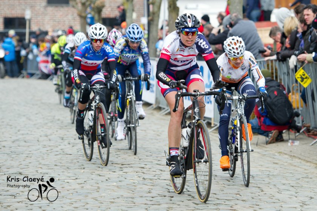 Marijn on the Oude Kwaremont. Looks like the second steak did the trick. (Image by Kris Claeyé)