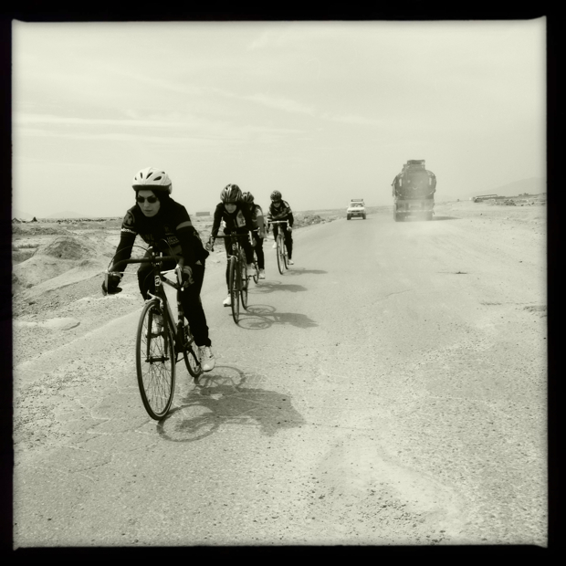 Photo: Afghan Women's Team ride. Photo by Shannon Galpin.