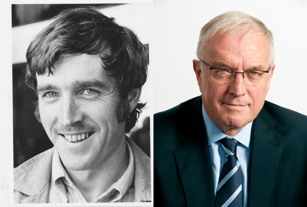 Photo: Jim Burns, Irish teacher in South Africa, circa 1976 (left) and today (right)...